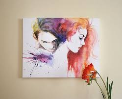 65 best watercolour portraits people and fashion images on