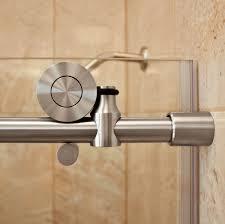 62 s s hardware track kit frameless sliding shower door brushed