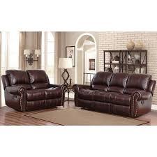 Top Grain Leather Reclining Sofa Abbyson Broadway Top Grain Leather Reclining 2 Living Room
