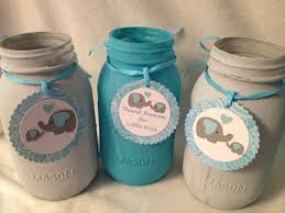 jar baby shower centerpieces baby elephant baby shower centerpieces quart or pint size