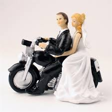 motorcycle wedding cake topper 2018 wholesale fashion motor and groom toppers