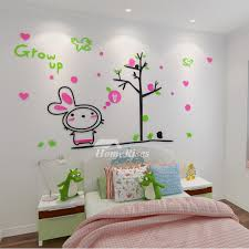 rabbit home decor wall decals acrylic rabbit childrens personalised home decor