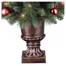 4ft prelit artificial tree potted decorated pine clear