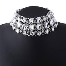 rhinestone collar necklace images Buy rhinestone choker necklace 2017 bib statement jpg
