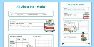 all about me maths display poster worksheet year 3 4 all about