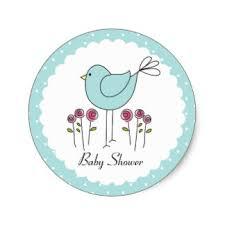 bird baby shower bird themed baby shower stickers zazzle