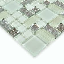 mosaic tiles white crystal glass tile sheets kitchen backsplash