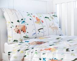 Cot Bed Duvet Cover Boys Fox Bedding Etsy