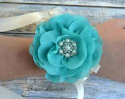 turquoise corsage turquoise corsage etsy