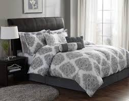 Black And White Damask Duvet Cover Queen Bed Linen Amazing White And Gray Bedding Sets Gray Duvet Cover