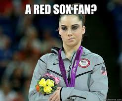 Funny Red Sox Memes - a red sox fan mckayla maroney is not impressed quickmeme