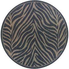 Leopard Print Outdoor Rug Animal Print Round Outdoor Rugs Rugs The Home Depot