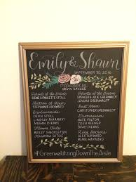 wedding program chalkboard wedding signage letra design studio