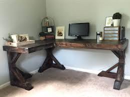 Corner Desk Idea Pottery Barn Inspired Desk Diy Office Makeover Desks And Shapes