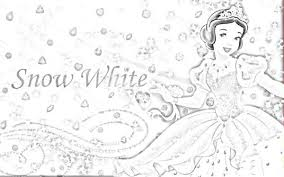 disney cute princess snow white coloring cartoon coloring