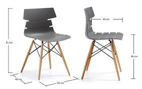 chaise de cuisine grise chaise cuisine grise trendy chaises habitat salle a manger pour