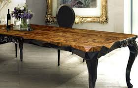 Wooden Dining Table With Chairs The Most Modern Wood Dining Tables Residence Plan Table Bases For