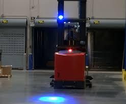 blue warning lights on forklifts blue led spot lights abel womack manufacturing warehouse