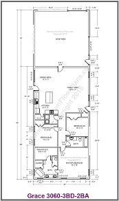 floor plans 3 bedroom 2 bath custom barndominium floor plans and stock pole barn homes
