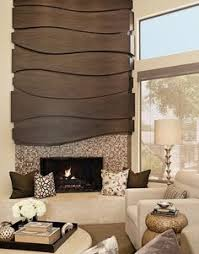 Fireplace Wall Flush Wall With Glass Tile And Metal Panels With - Design fireplace wall
