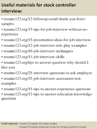 Sample Controller Resume by Top 8 Stock Controller Resume Samples