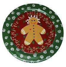 christmas plate gingerbread painted christmas plate favecrafts