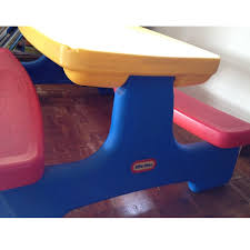 little tikes easy store picnic table little tikes easy store picnic table toys games on carousell