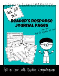 printable reader u0027s response journal pages simplek12