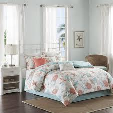 Coral Aqua Bedroom Amazon Com Madison Park Pebble Beach 7 Piece Cotton Comforter