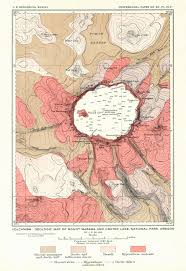 Us National Parks Map Maps Of Crater Lake National Park Trails Park Historic Road