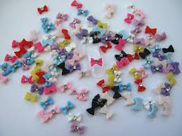 amazon com nail art 3d 120 resin mix small bows rhinestone for