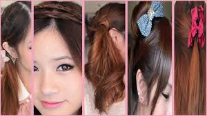 5 quick and easy back to hairstyles youtube