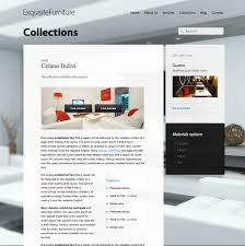 furniture website design inspiration furniture websites home