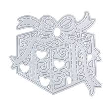 Embossing Templates Card Making - demiawaking gift box cutting dies stencil for diy stamp photo
