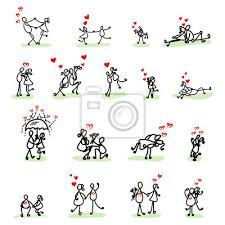 imagenes de amor con muñecos animados amor de dibujos animados dibujo de la mano fotomural fotomurales