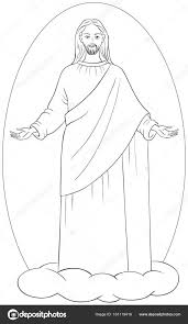 coloring page of jesus ascension amazing ascension of jesus christ in white robes standing on a cloud