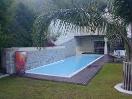 pool design inground lap pool design ideas with block paving in