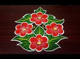 beautiful flower rangoli design simple rangoli designs with 7x4
