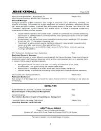 Retail Sales Resume Cover Letter by Restaurant Manager Resume Skills Speculative Essay On Cavemen