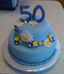 50th birthday daisy cake blue cakes custom cake and fondant cakes