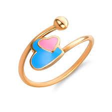 girl heart rings images Adjustable gold rings for babies toddlers teens gemstones enamel jpg