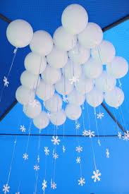 helium balloons with snowflakes perfect and easy decoration for a