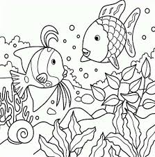 rainbow fish coloring free download