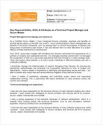 master resume template master resume template sle scrum master resume 8 exles in pdf
