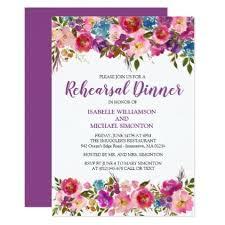 diy rehearsal dinner invitations purple floral wedding rehearsal dinner invitations