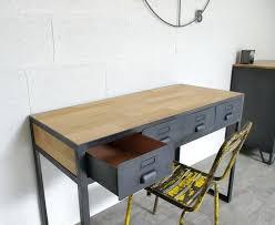 bureau factory bureau en acier un bureau industriel en acier et bois sur mesure