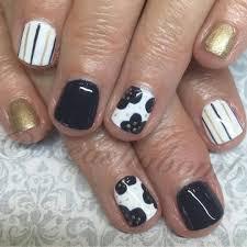 nail art by breasha u2014 navy white and gold nails nailart cnd