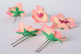 flower hair pins madeheart set of handmade foamiran fabric flower hairpins 5