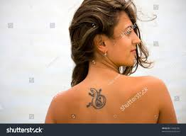 portrait young tattoos on her stock photo 18466756 shutterstock