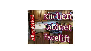Facelift Kitchen Cabinets by Give Your Kitchen Cabinets A Facelift Youtube